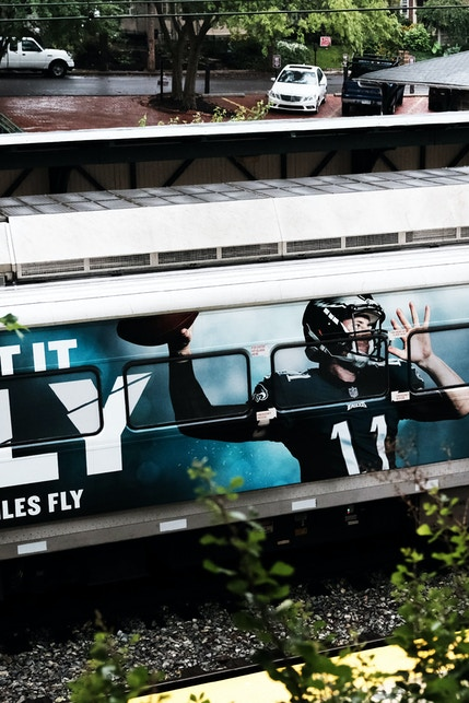 Philadelphia Eagles SEPTA train wrap