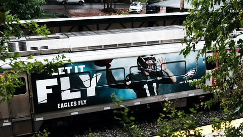 Philadelphia Eagles SEPTA train wrap