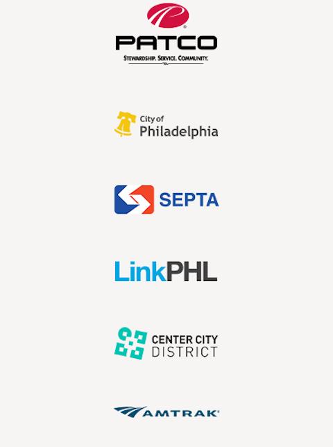Philadelphia transit and partner logos