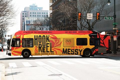 SEPTA bus wrap example in Philadelphia