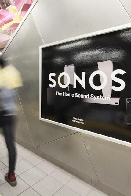 Sonos media in Seattle Sound train station