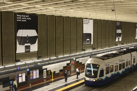 Sonos media in Seattle King County Transit's University Street station
