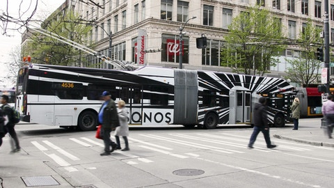 Sonos full wrap on Seattle Metro Transit bus