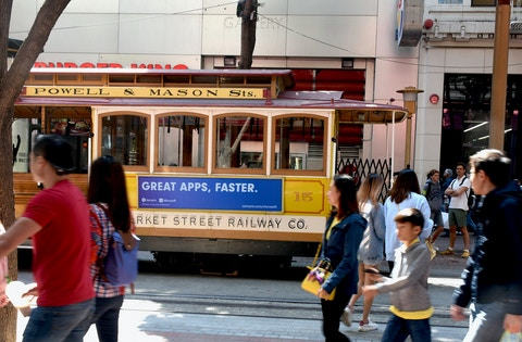 Rail Brand Cable Car in San Francisco