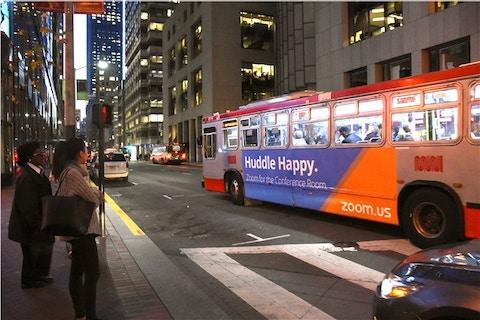 Zoom Bus Wrap in San Francisco