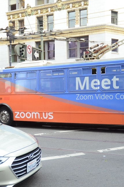 Zoom Bus Wrap in San Francisco