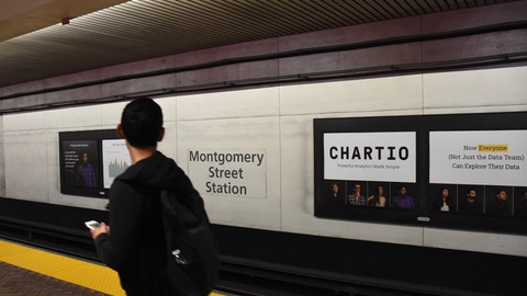 Chartio campaign in BART's Montgomery Street Station