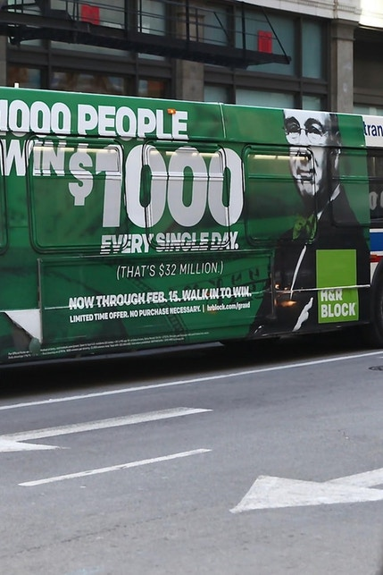 Chicago CTA Bus Wrap HRBlock