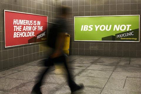 Customer walks by University Station Domination in Seattle