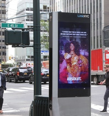 Absolut Vodka Features Alexandra Grey, Transgender Actress, on LinkNYC