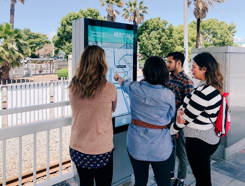 Interacting with map on LA Metro IxNTouch kiosk