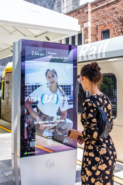 AT&T campaign on LA Metro IxNTouch Kiosk
