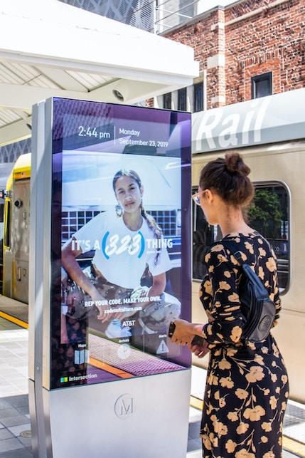 AT&T campaign on LA Metro IxNTouch Kiosk
