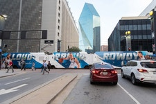 Bus wrap in Dallas