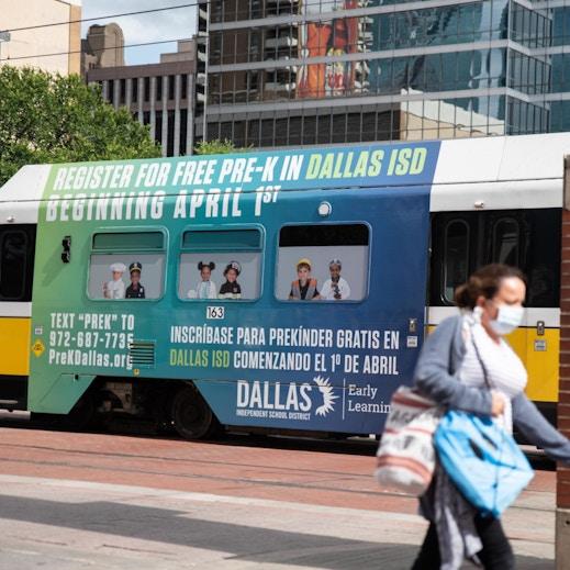 Bus wrap in Dallas