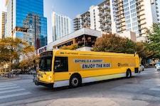 CapMetro in Austin bus wrap advertising