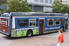 Tips for effective OOH creative, like bus wrap ad designs