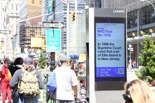 Native advertising content shown on LinkNYC
