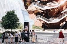 Digital Kiosk outside of Hudson Yards, NYC