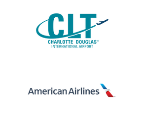Charlotte, NC airport partner logos