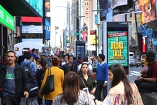 NYC Broadway district is busy again