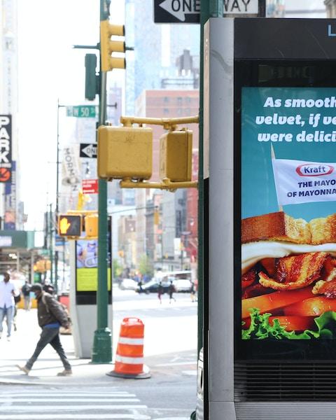 An example of a digital OOH programmatic ad on LinkNYC