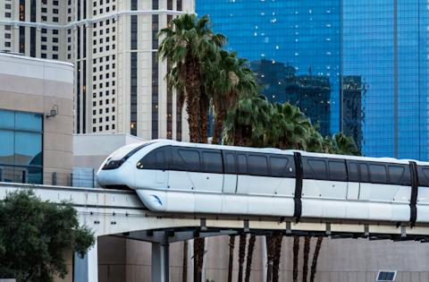 Photo showing the Las Vegas monorail