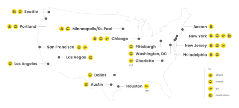 Map of Intersection's markets in the U.S.